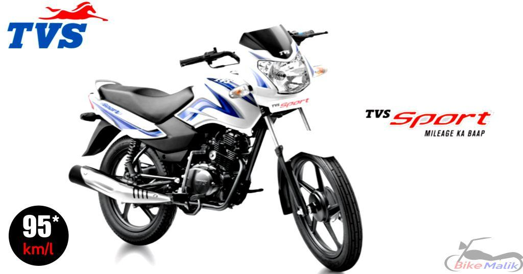 TVS Sport Features, Specs,  Review. Mileage, Colors, Images & 360 View