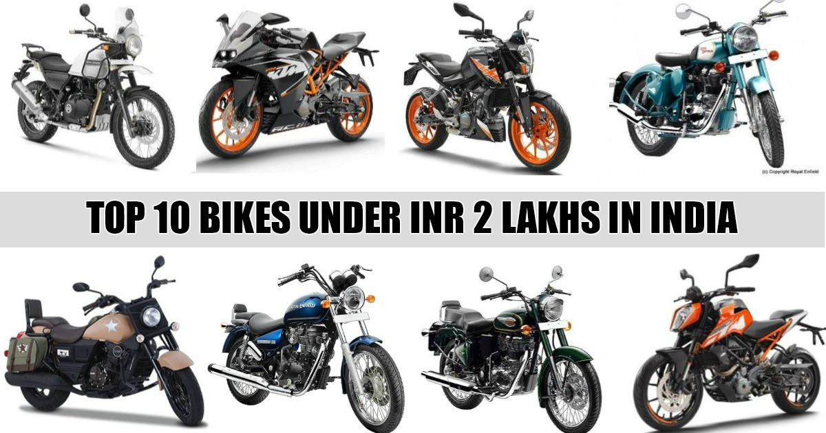 Top 10 Bike Models Under INR 2 Lakhs In India